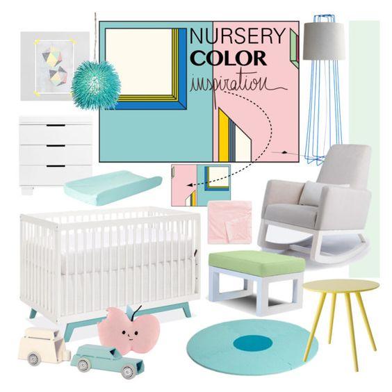 """NURSERY color inspiration"" by ditzglitz ❤ liked on Polyvore featuring interior, interiors, interior design, home, home decor, interior decorating, Modo, Kami Design, Blu Dot and bObles"