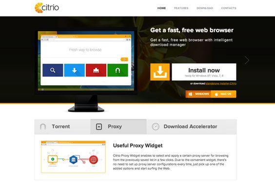 Citrio Browser 基於 Google 瀏覽器,但更快、更省資源的選擇