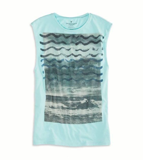 Ocean Mist AE Photo Real Muscle T-Shirt