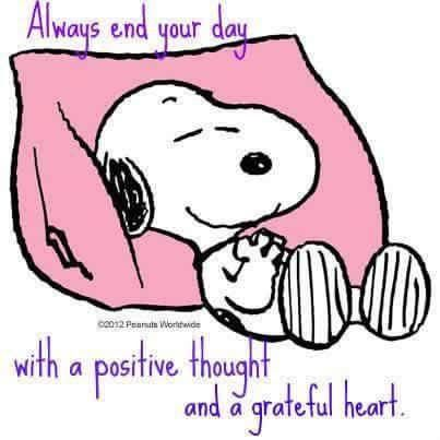"""""""Always end your day with a positive thought and a grateful heart."""""""