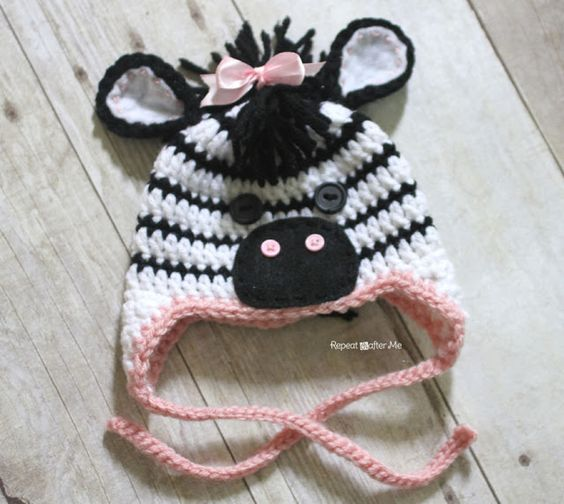 Knitting Pattern For Zebra Hat : Repeat Crafter Me: Crochet Zebra Hat Pattern Crochet Pinterest Patterns...