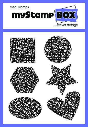 Back to the Basics stamp set from myStamp BOX clear stamps