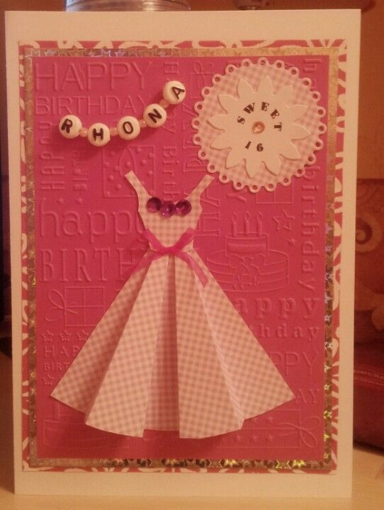 Handmade Cross Stitch 16th Birthday Card Bunting Sweet 16 – Sweet 16 Birthday Cards