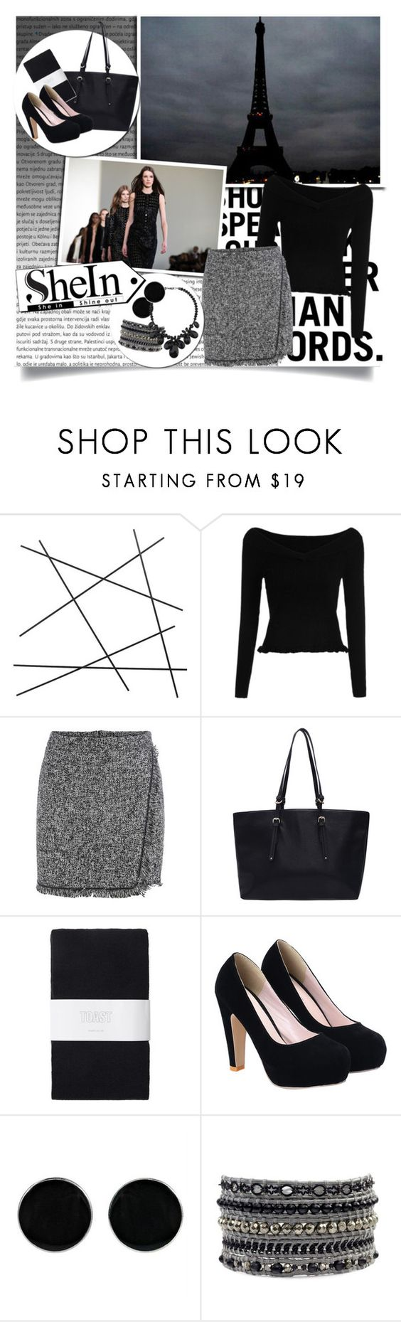 """SheIn: Grey Fringe Skirt"" by rosey-wolf-x ❤ liked on Polyvore featuring CB2, Oris, Chanel, Mercedes-Benz, Toast, AeraVida, Wallis, WorkWear, Sheinside and shein"