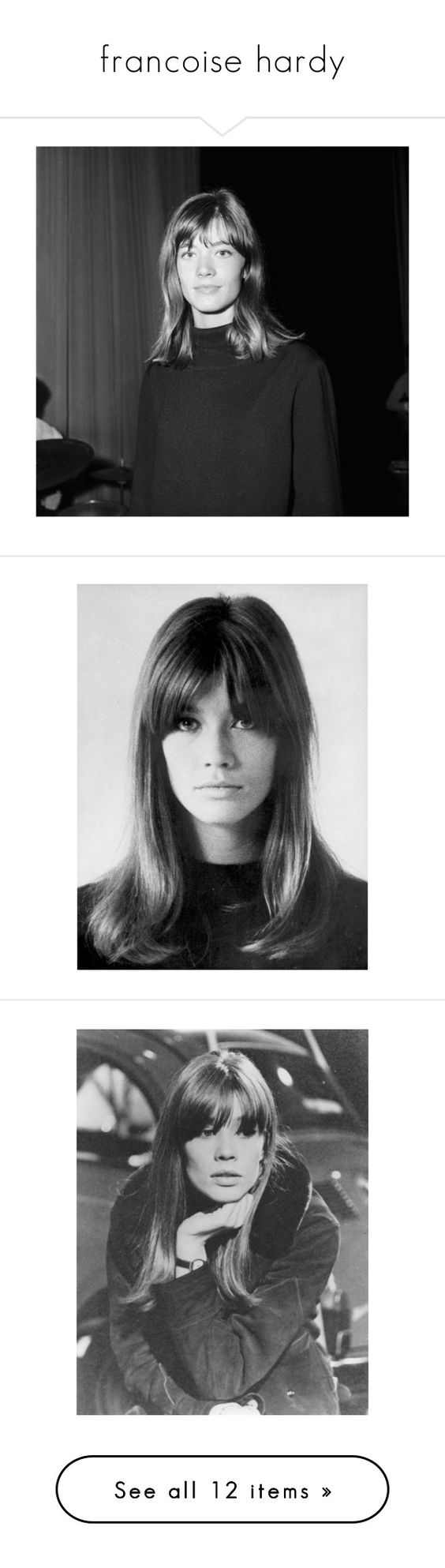 """""""francoise hardy"""" by d-rowsy ❤ liked on Polyvore featuring pictures, fillers, photo, pics, faces, people, photos, shoes, boots and clothes - shoes"""