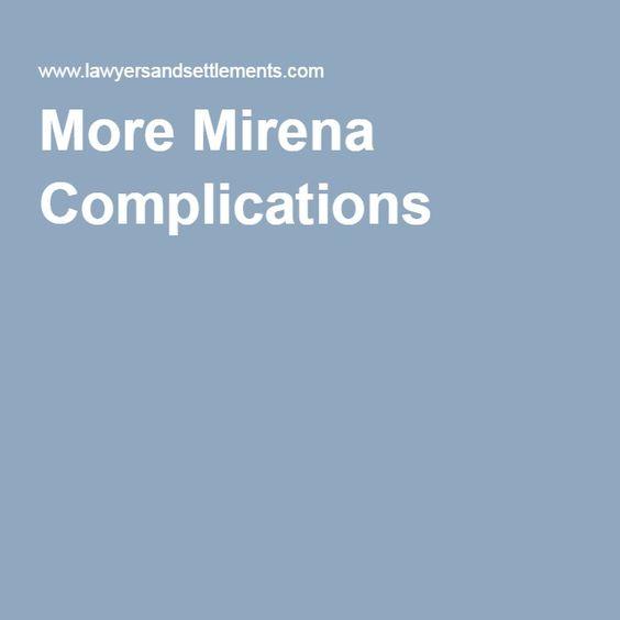 More Mirena Complications
