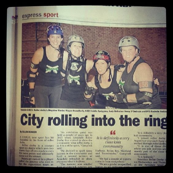 Maitland Roller Derby in action at Armidale NSW. #MRG #lovemyteam #rollerderby #Maitland #lovemysport #derbygirl #tough by revhead_chick66