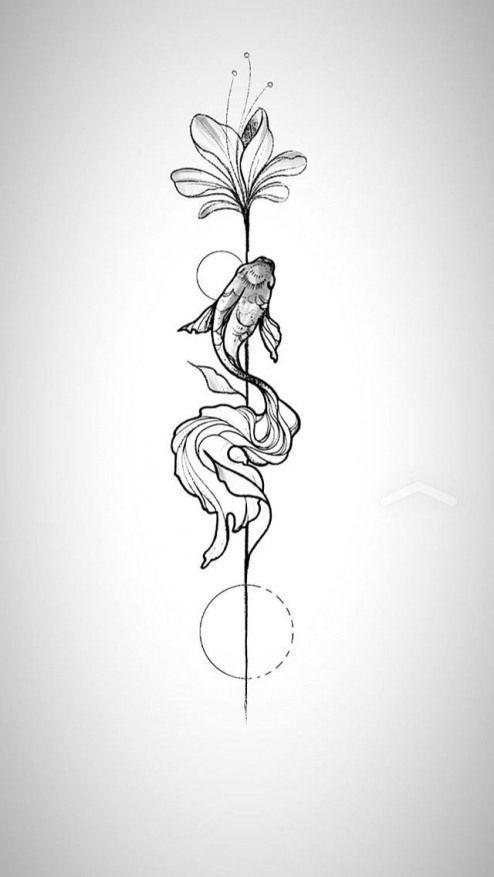 Para Compra Significado O Unalome Que Simboliza O Amadurecimento Iluminacao Combinado Com A Libelula Que Assim Tatouage Tatouage Poisson Tatouage Pied