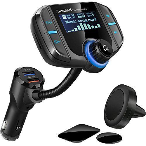 QC3.0 Kfz Ladegerät Bluetooth FM Transmitter mit RGB