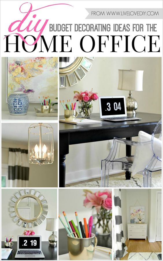 Diy Budget Decorating Ideas For The Home Office Love The