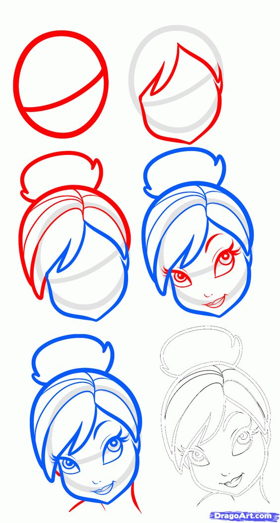 how to draw cartoon things step by step