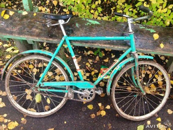 Régen ilyen orosz gyártmányú Skolnyik (iskolás fiú) biciklivel tepertem