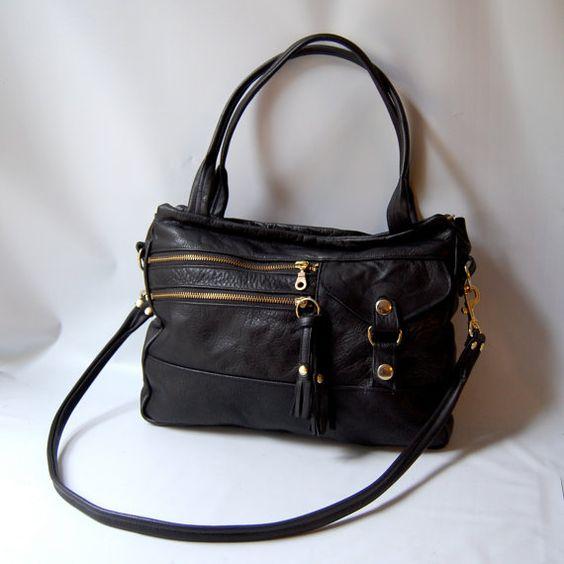 5 pocket Vigga tote bag in black