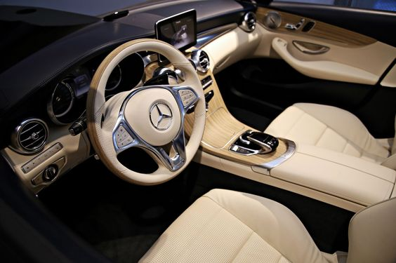2016 Mercedes-Benz C-Class Cabriolet Shows its Interior in Germany. I love the interior! It's creamy and beautiful!