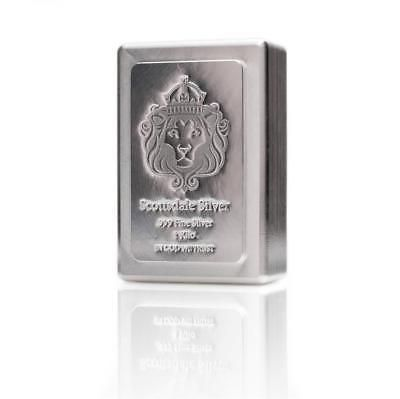 1 Kilo Scottsdale Stacker Silver Bar 1 Kg 999 Silver Bullion A131 Silver Bullion Silver Bars Gold Bullion Bars