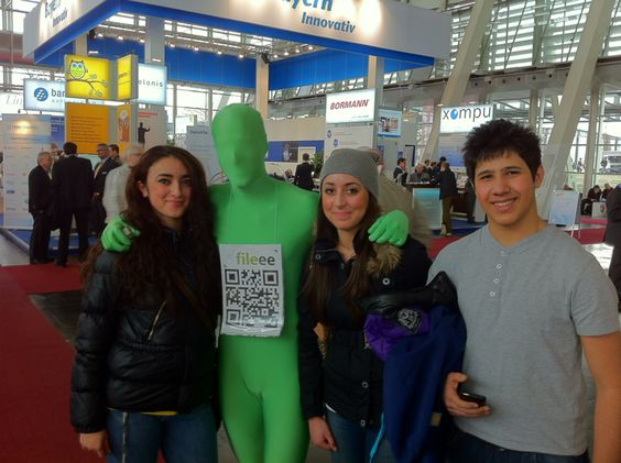 Green man at CeBit 2012