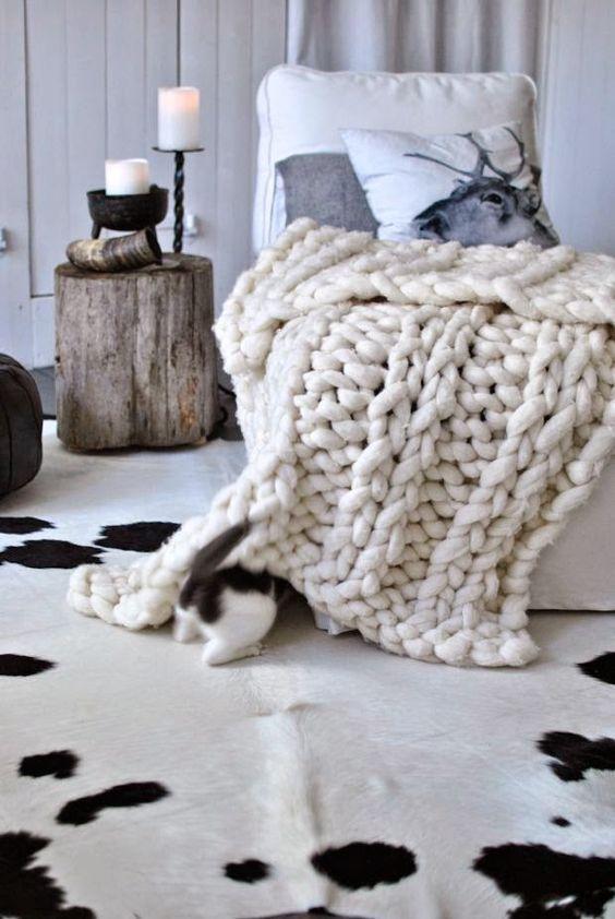 tendance plaid tricot laine cosy cocooning nordique scandinave deco howne