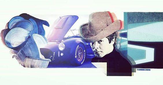 Artwork by ydtn #artwork #art #arty #vintagestyle #vintage #hotwheels #shelby #cobra #cobra427 #colors #collage #couleurs #photomontage #summer #racingcars #men #menstyle #enjoy #usa #goodyear #photoshop i love cars but i love art too (à...