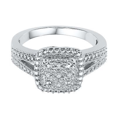 Diamond Ring in Sterling Silver available at #HelzbergDiamonds