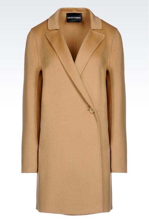 Emporio Armani Women Single Breasted Coat - CASHMERE COAT Emporio