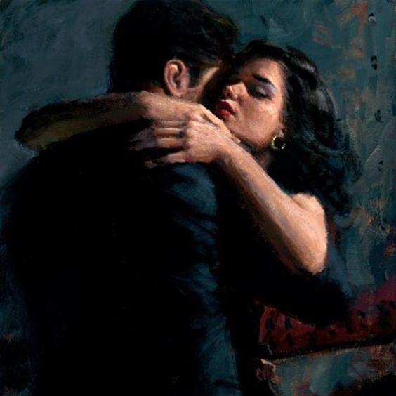 The Embrace III, by #FabianPerez