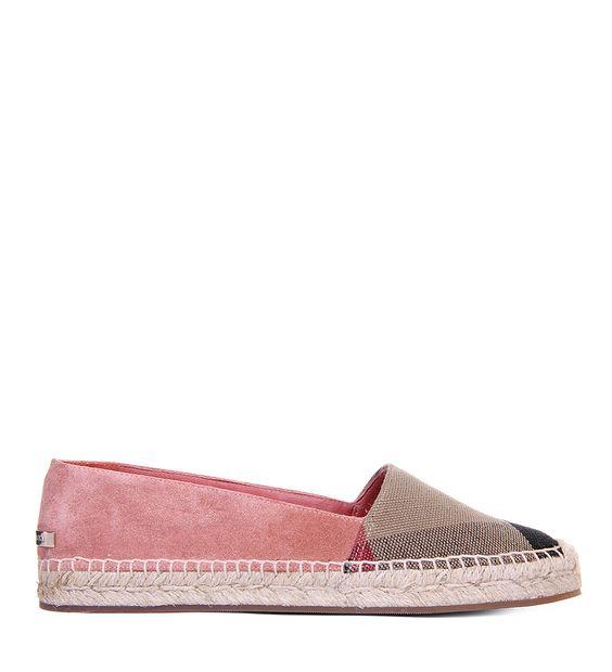 Купить Эспадрильи Burberry 006112 116/0DR для женщин , цвет розовый в интернет-магазине брендовой одежды, обуви и аксессауров Helen Marlen