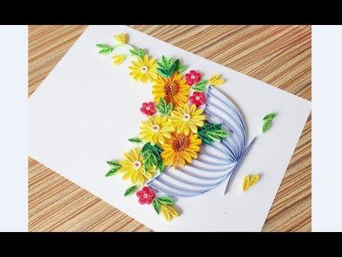 Paper Quilling Flower For Beginner Learning Video 21 Paper