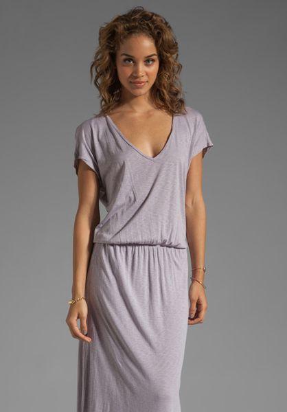 Lizia Luxe Slub Maxi Dress in Whale - Lyst