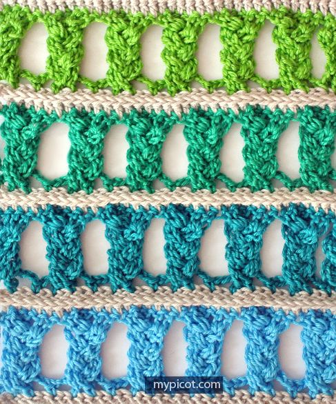 Crochet Openwork Braid Stitch Tutorial - (mypicot):