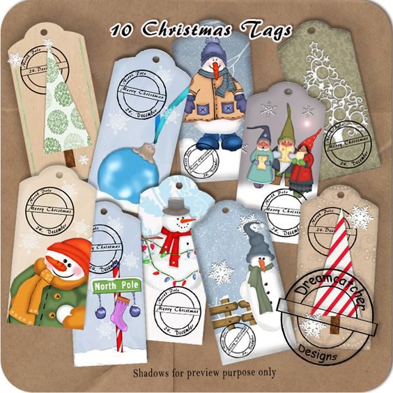 Christmas Tags (CU/PU/S4H) by Dreamcatcher Designs [dc-christmastags] - $3.50 : Digidesignresort