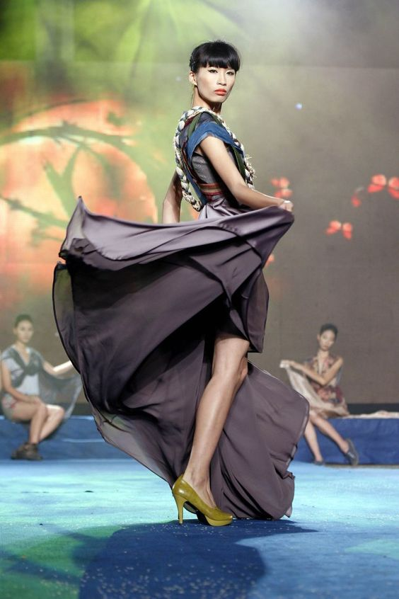 Creation by Vietnamese designer Ta Linh during the Vietnam Fashion Week in Hanoi