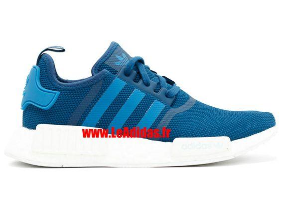 Adidas NMD R1 - Originals Adidas Pas Cher Pour Homme/Femme Bleu/Blanc s31502