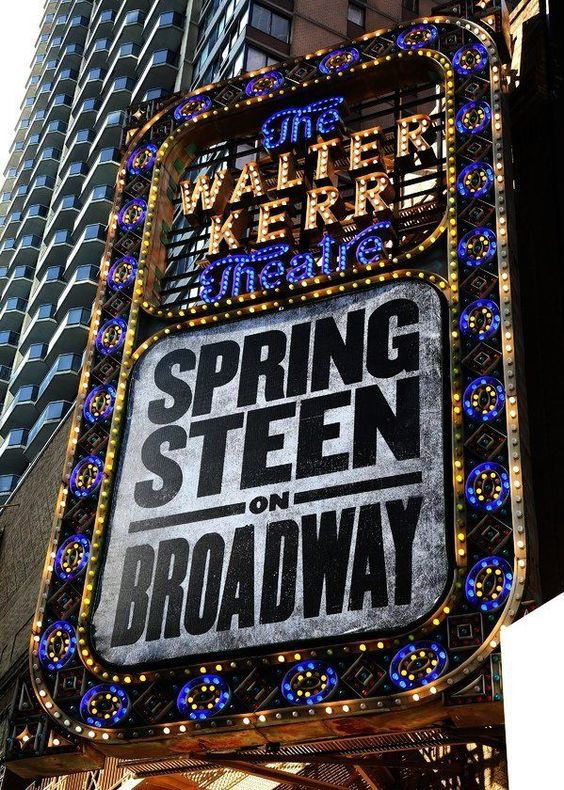 Bruce Springsteen On Broadway Lights