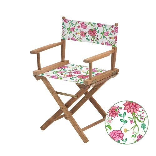 Bay Isle Home Cheatwood Replacement Directors Chair Canvas Cover Chair Outdoor Chairs Covered Garden