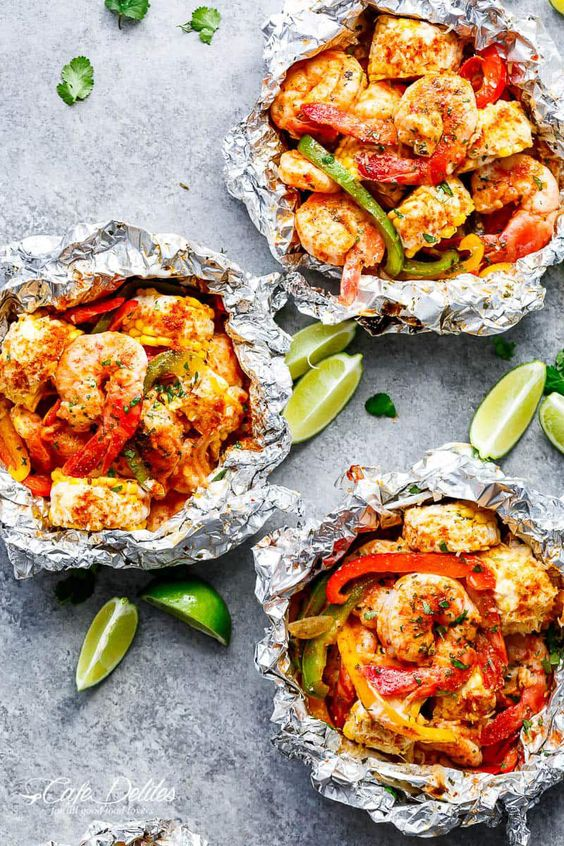 Shrimp & Mexican Corn Foil Packets