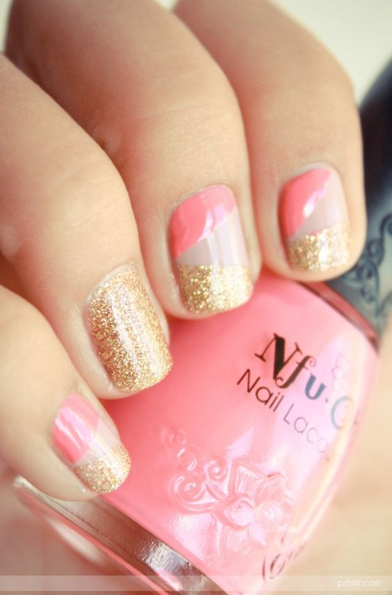 pink nude and gold