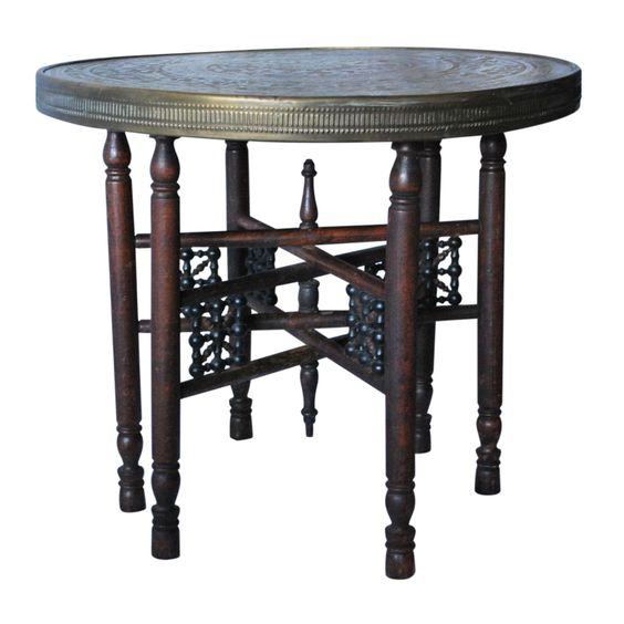 Oriental Chinoiserie Moroccan Tray Table on Chairish.com