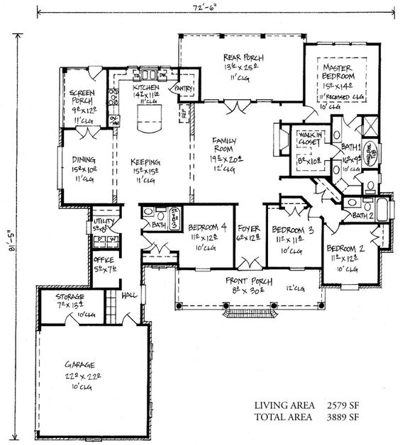 Springfield country french home plans louisiana house for French country house plans louisiana