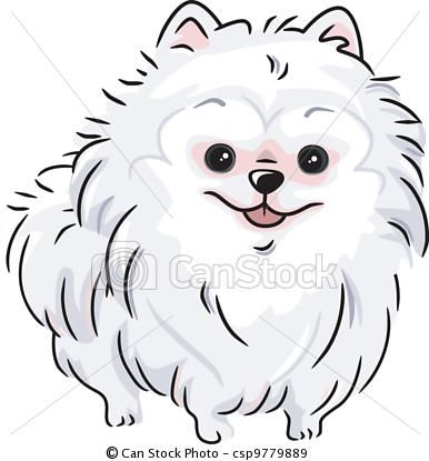 how to draw a white dog