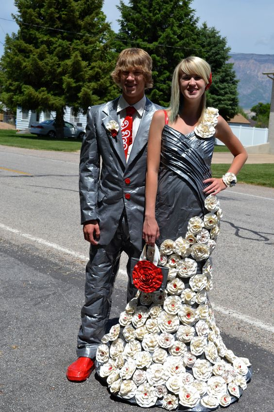Duct tape dress