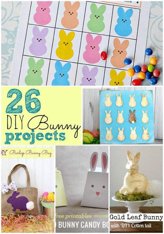 26 DIY Easter Bunny Projects: Diy Easter, Bunny Projects, Easter Bunny, Easter Ideas