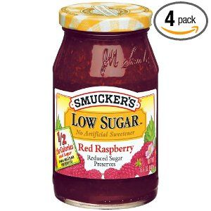 Smuckers Low Sugar Red Raspberry Jam. Best raspberry jam on the market ...