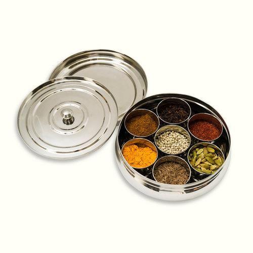 Indian Tiffin Masala Dabba Spice Tin Small Masala Dabba Spice