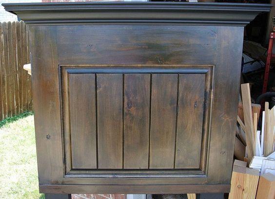 Twin Size Alder Wood Door Headboard by Vintage Headboards.  972.668.2603 vintageheadboards@gmail.com  http://vintageheadboards.storenvy.com/