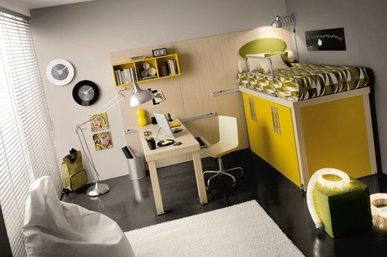 lowe yellow-black-white, want this room!