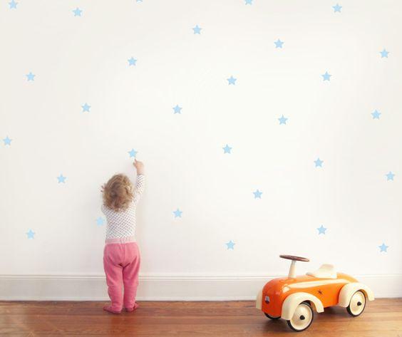 Wandtattoo - Wandtattoo Sterne / Wandsticker Dekoration - ein Designerstück von HolyWoodStudio bei DaWanda