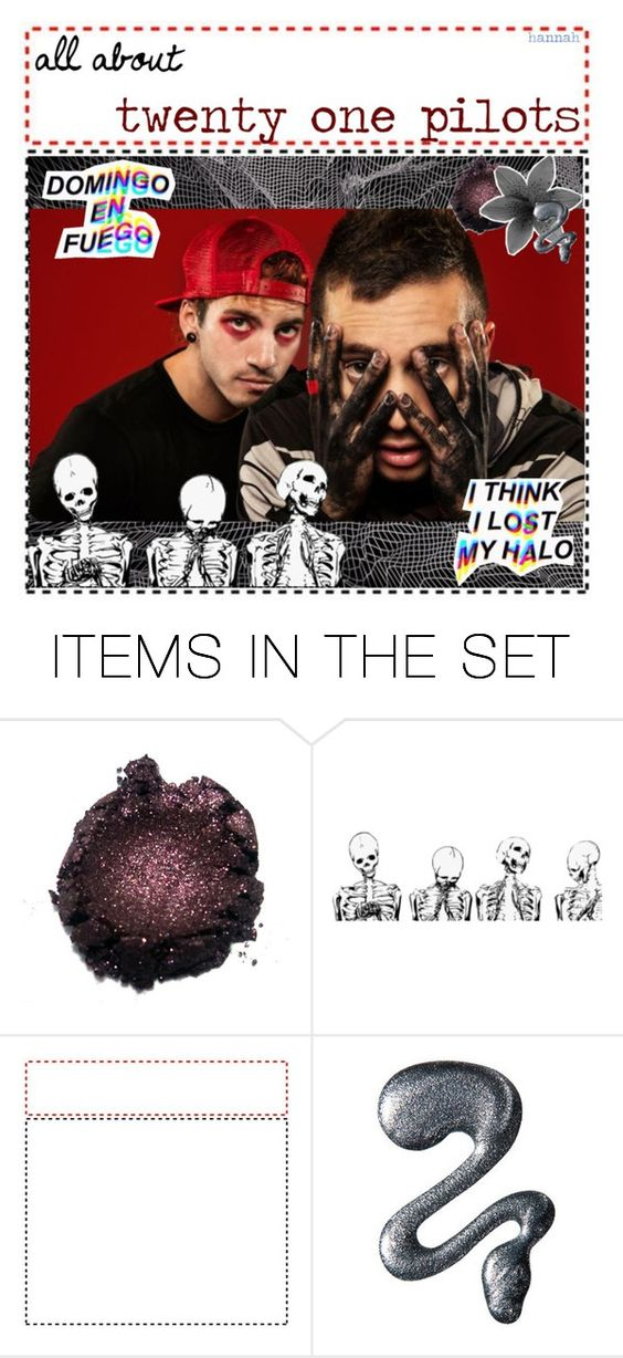 """a little bit about twenty one pilots // hannah"" by fandomsarelife ❤ liked on Polyvore featuring art and hannahsongkisses"