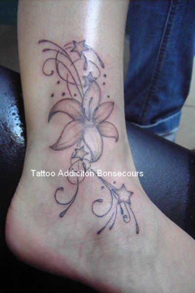 Fleur + arabesques + étoiles