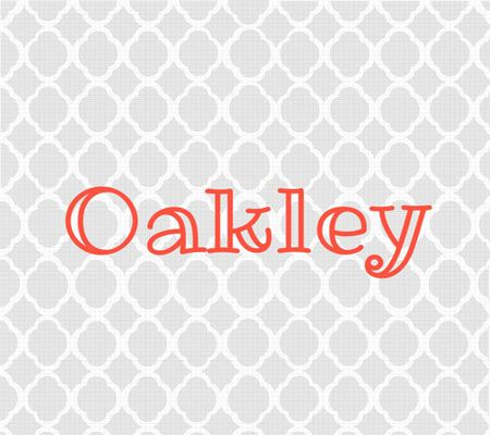 Interesting gender neutral baby names. I really like Oakley
