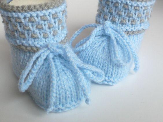 Вязание & Häkelschuhe - детская обувь трикотажные - один дизайн кусок ellyshop на DaWanda